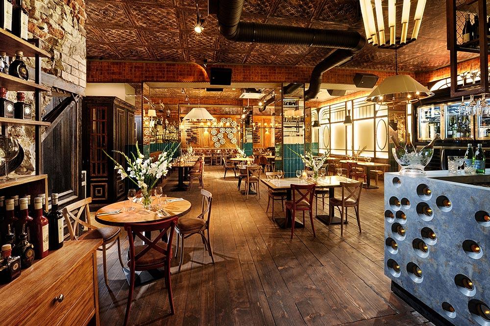 Wnętrze restauracji Boccanera